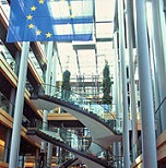 Picture of the inside of the European Parliament building for Your Expert Witness story