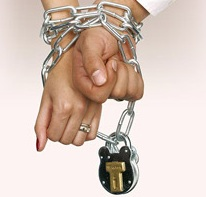 Your Expert Witness handcuffed together