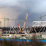 Picture of Olympic Stadium under construction for Expert Witness story