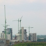 Picture of tower cranes by Chris Stokes for Your Expert Witness story