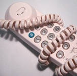 Picture of telephone with tangled cable for Your Expert Witness story